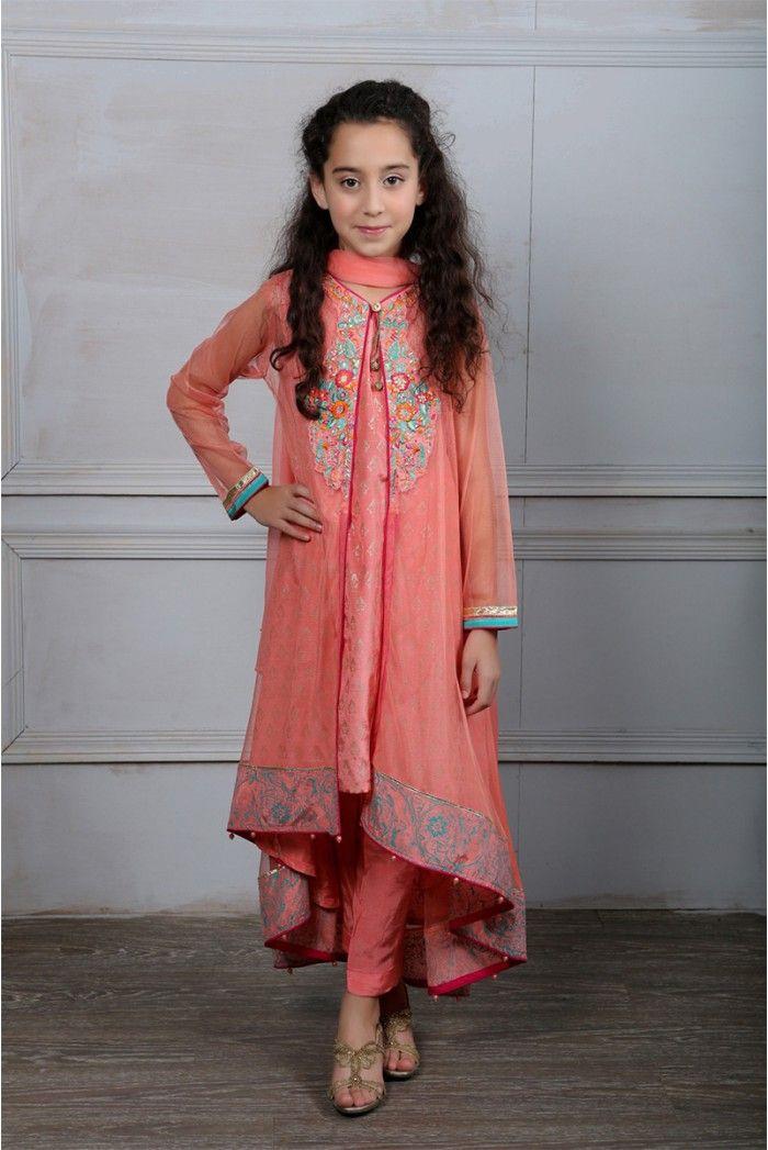 6050103e3e3b Maria B Fancy Kids Dresses Designs 2018-19 Collection for Girls ...