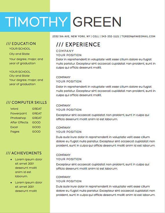 Resume Template Word INSTANT DOWNLOAD Resume by AGierDesign DIY
