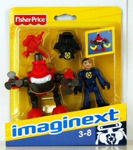 Imgainext Robot Police Model T0651 Robot with Police Figure includes CD-Rom #1 by Fisher Price. $9.49. Each figure comes with its own game. Press his head to make turbines spin. includes CD-Rom with robot Games - Series #1. Imgainex Robot Police T0651