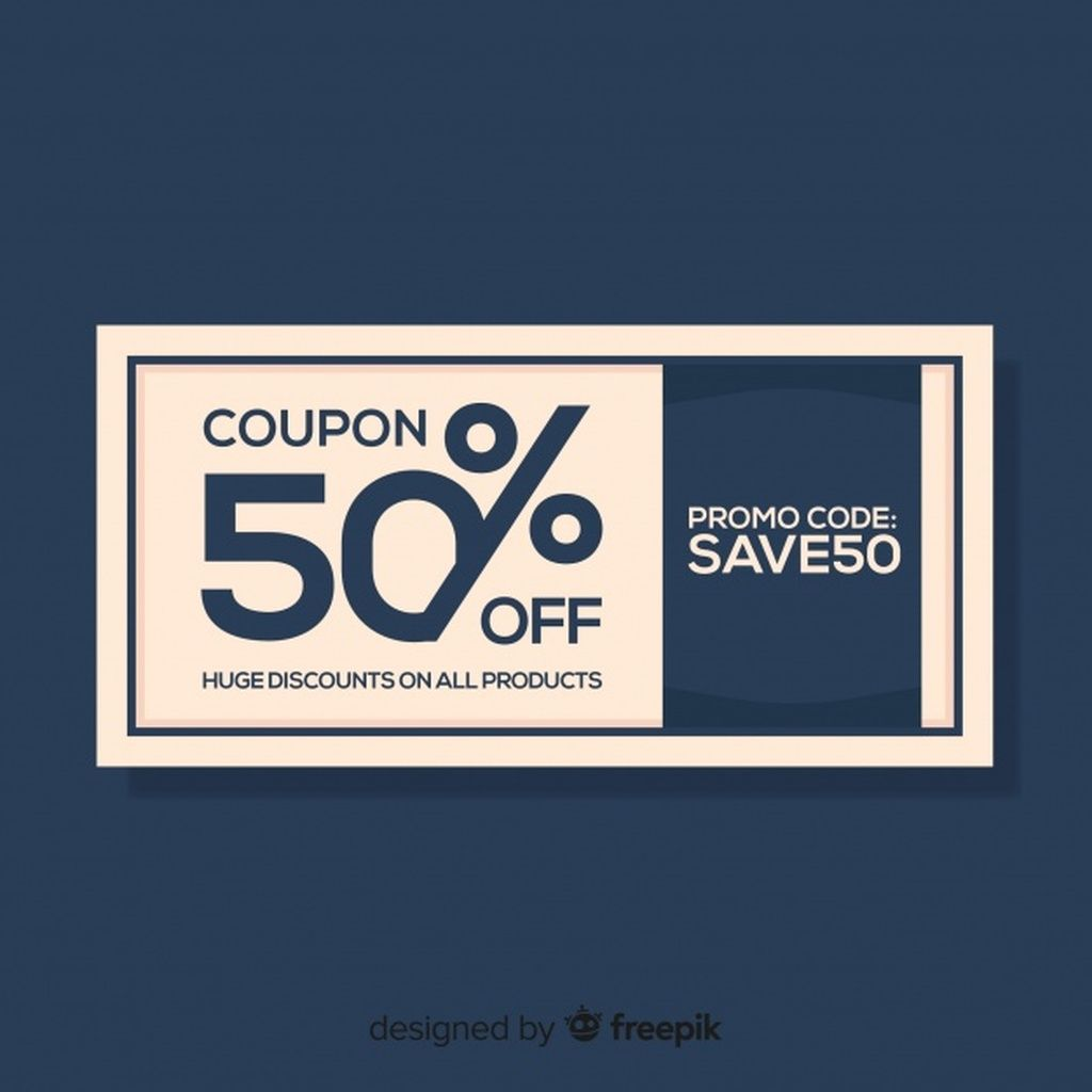 Modern Coupon Or Voucher Template Concept Paid Ad Sponsored Coupon Concept Template Modern In 2020 Coupon Design Coupon Template Coupons