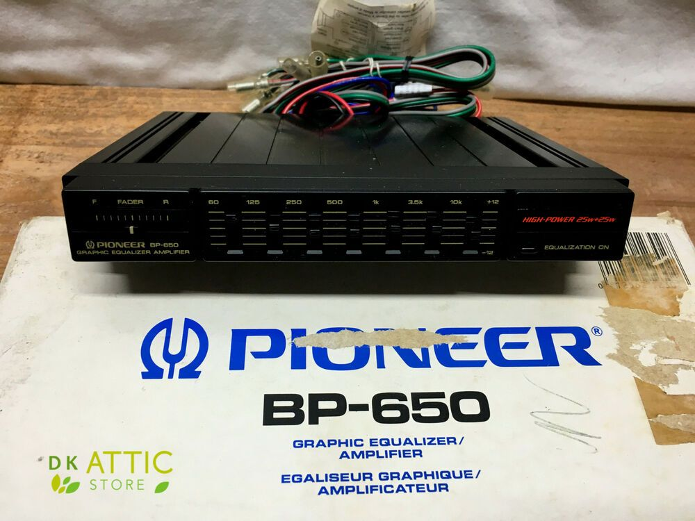 Pioneer Bp 650 7 Band Car Graphic Equalizer Amplifier In Box W Manual 25w 25w 12562123028 Ebay Rockford Fosgate Amplifier Rockford
