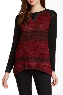 Space-Dye Raglan Pullover Sweater