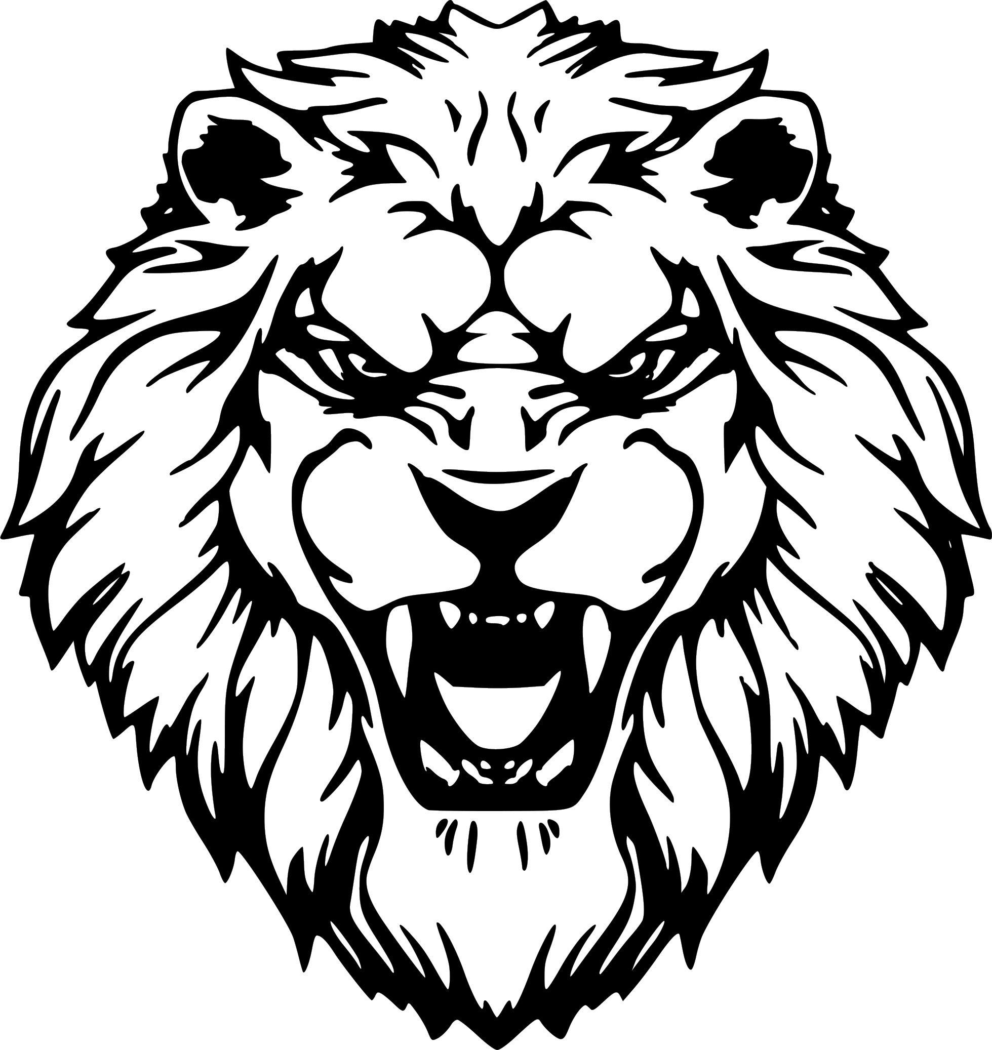 Lion Head Art Ferocious Roar Decal Car Truck Wall Window