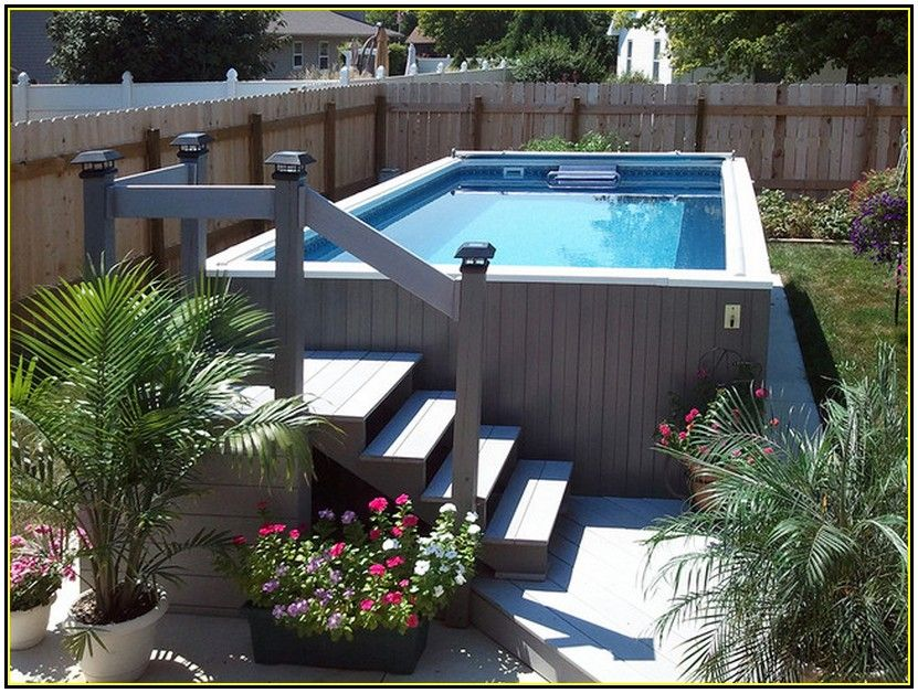 Above ground pool landscape designs pool landscape for In ground pool backyard ideas