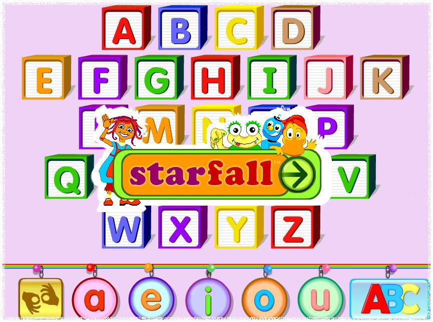 Learning Starfall is a great resource for phonicsbased