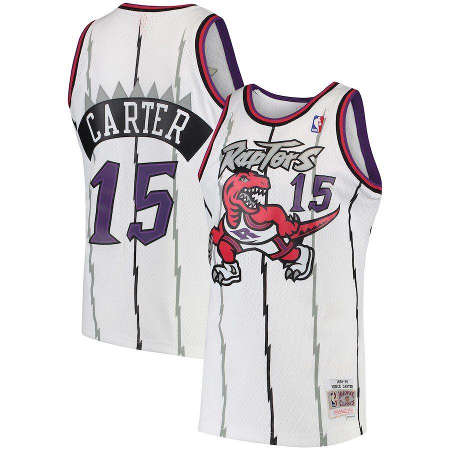 Mitchell /& Ness Toronto Raptors Vince Carter 1998 Road Swingman Jersey