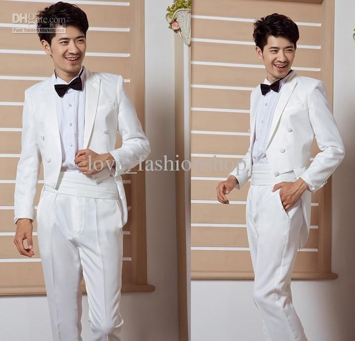 Wholesale Groom Tuxedos Best man Suit Wedding Groomsman/Men Suits ...