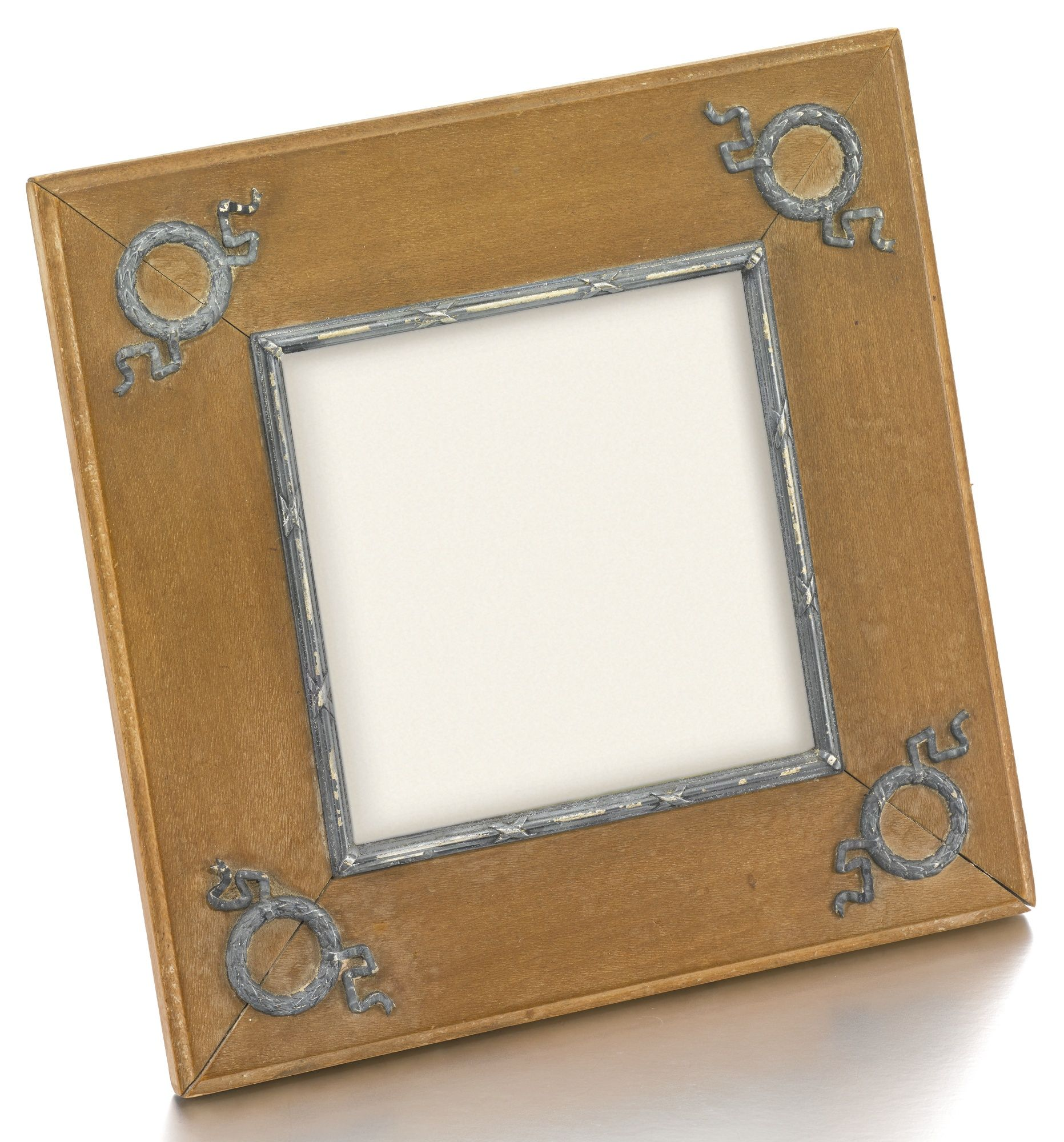 A Fabergé silver-mounted wood frame, workmaster Feodor Afanassiev ...