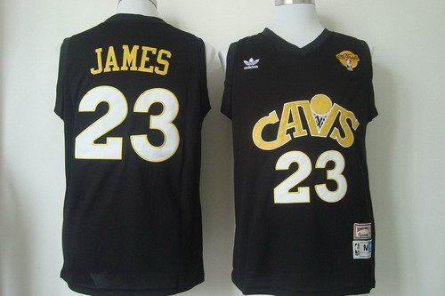 Cleveland Cavaliers #23 LeBron James CavFanatic Black Swingman Throwback Jersey