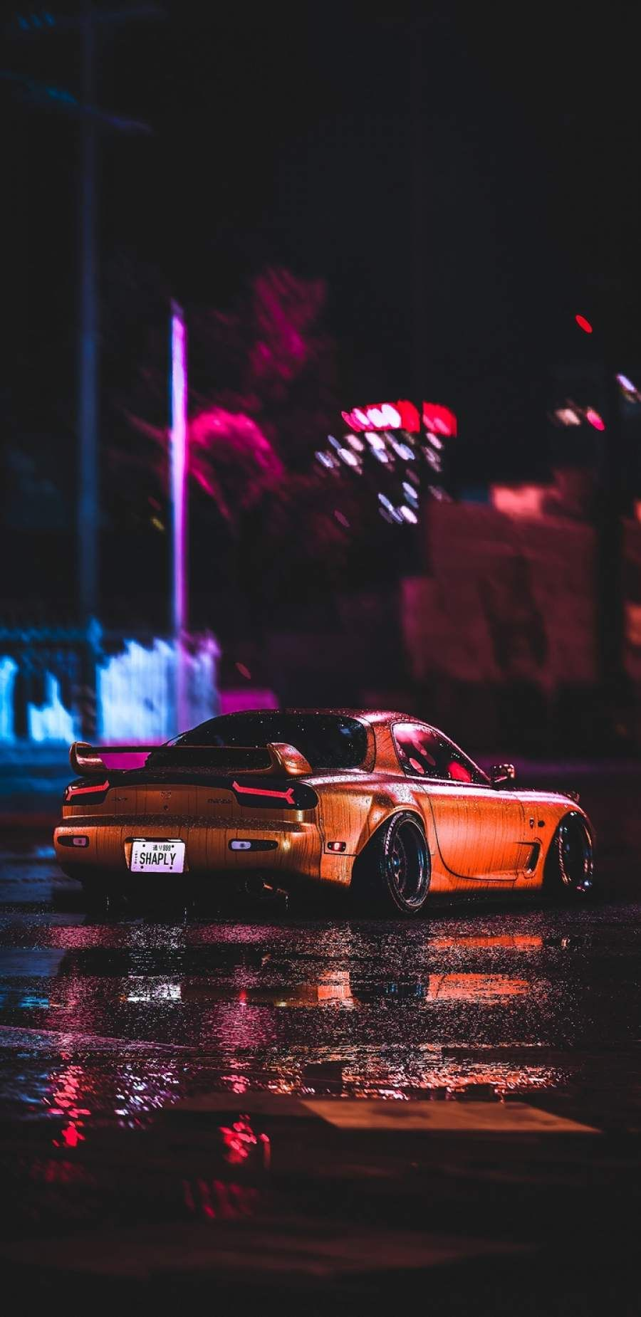 Mazda RX7 Night iPhone Wallpaper in 2020