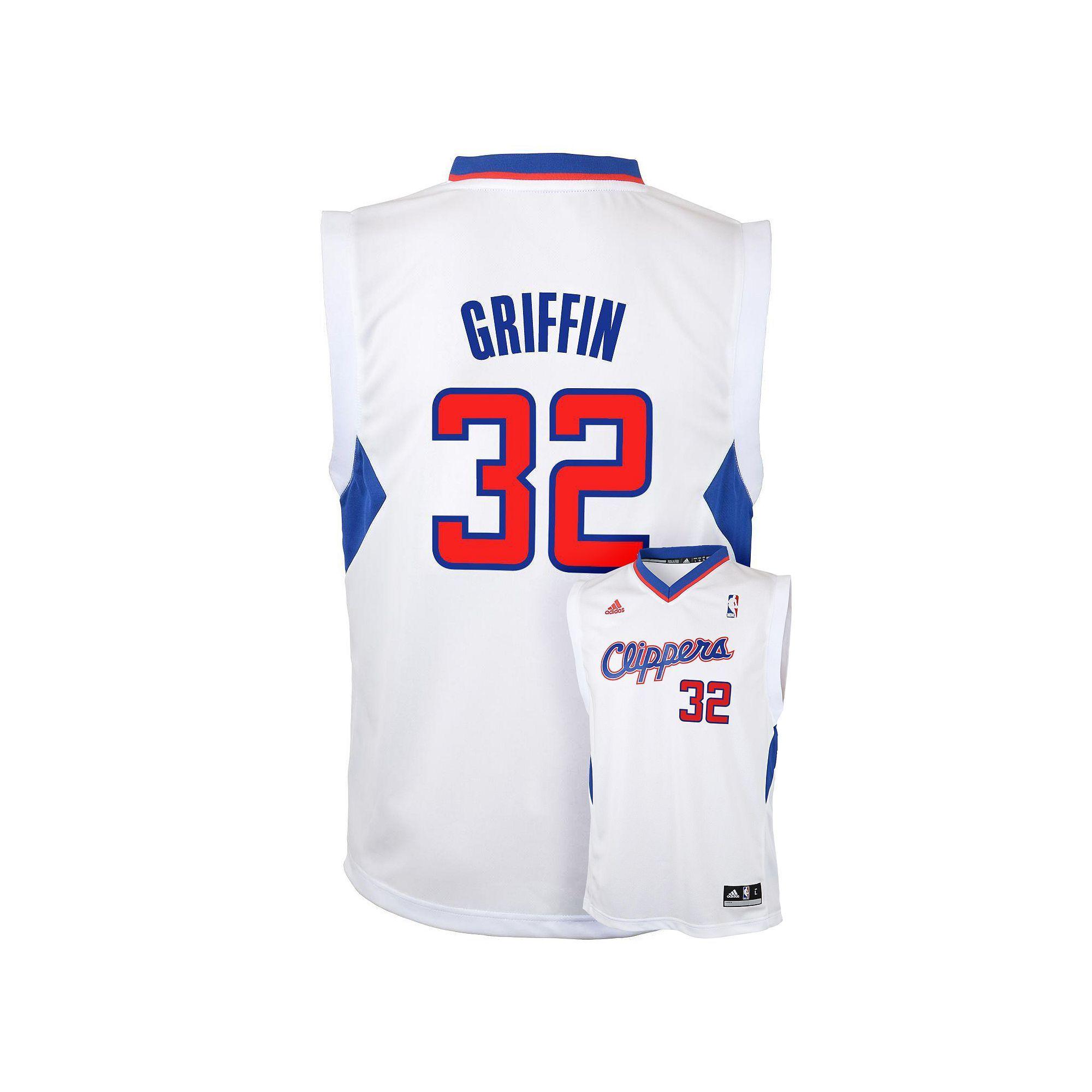 the latest 0fea3 15adb Boys 8-20 adidas Los Angeles Clippers Blake Griffin NBA ...