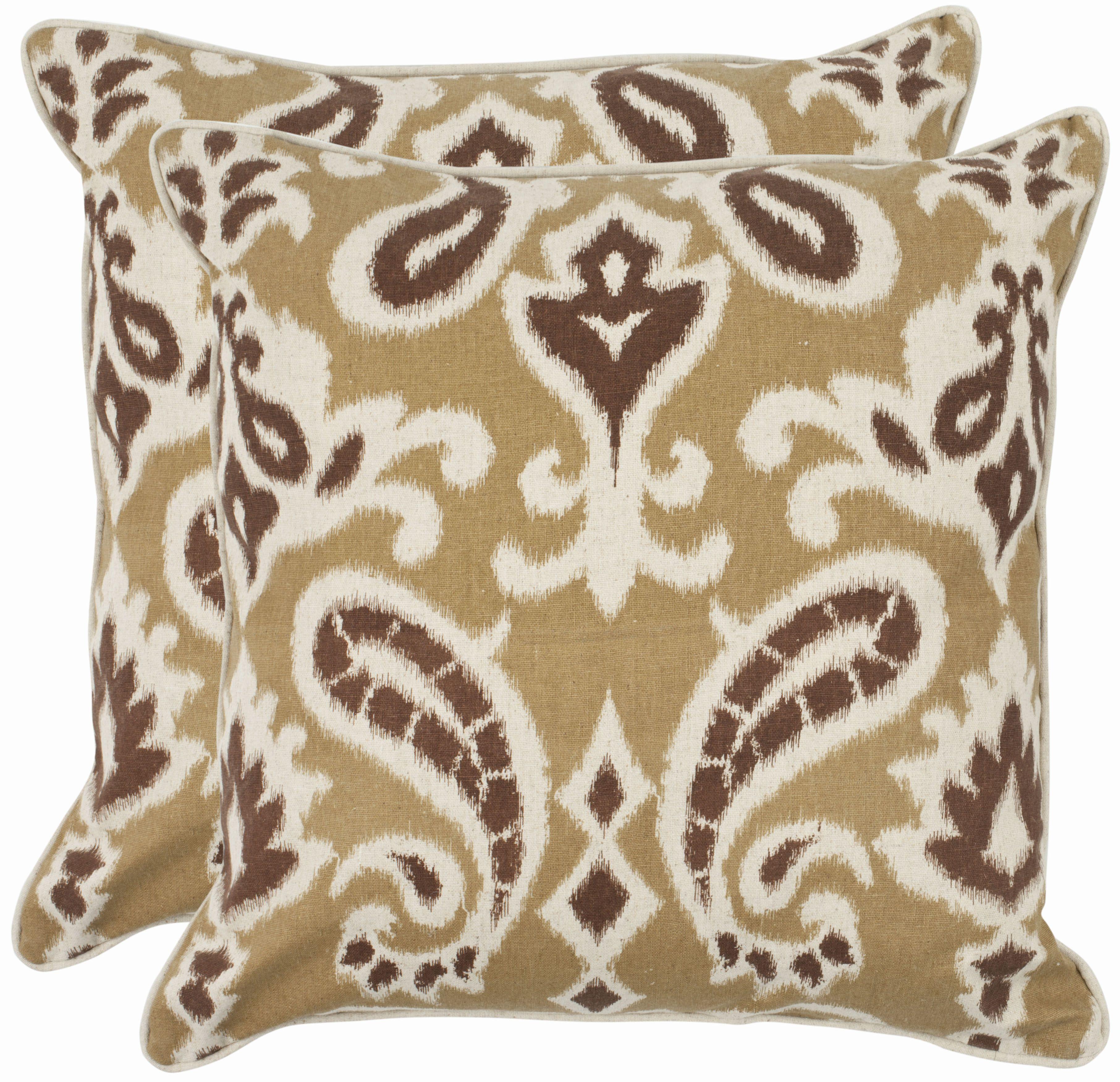 Safavieh Dylan Pillow Beige & Tan Products Pinterest