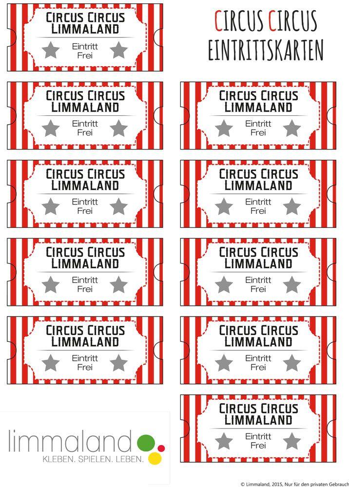 Bastelideen Mit Papier Eintrittskarten Und Popcorntuten Bastelideen Mit Papier Zirkus Geburtstag Eintrittskarten