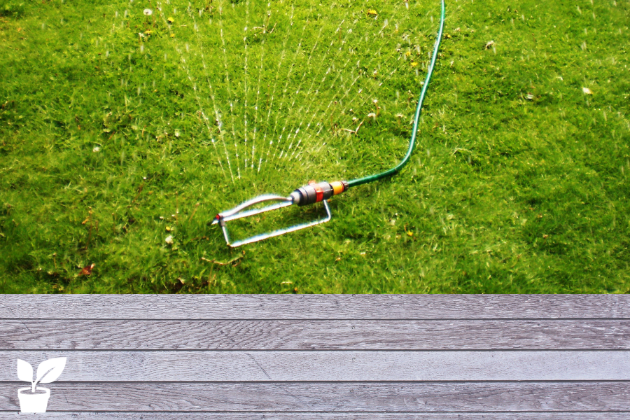 How Long To Water Lawn With Oscillating Sprinkler Lawn Tips Oscillating Sprinkler Drip Irrigation Diy Diy Herb Garden
