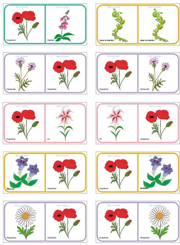 dominos sur le nom des fleurs planche 7 activities. Black Bedroom Furniture Sets. Home Design Ideas