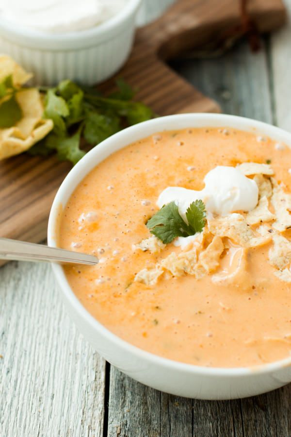 Cheesy Chicken Tortilla Soup Recipe Ohsweetbasil Pacific