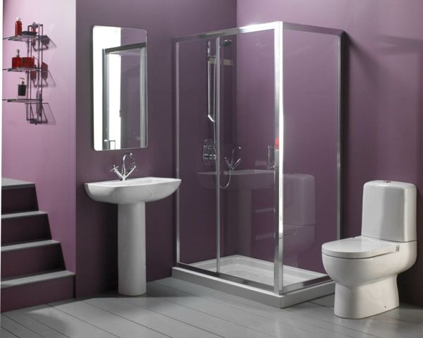 77 Badezimmer Ideen für jeden Geschmack   Purple bathrooms