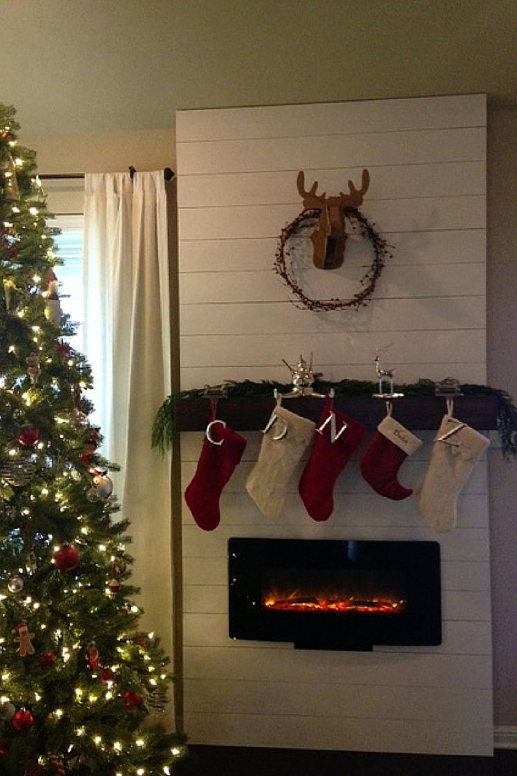 light the fire u2026 faux shiplap mantels decor and electric fireplaces