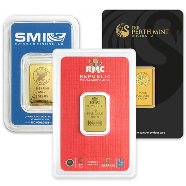 5 Gram Gold Bars For Sale Lowest Prices Money Metals In 2020 Gold Bars For Sale Gold Bar Gold Ounce