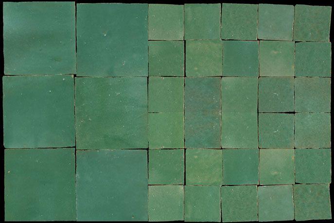 Zellige verde petrolio zellige piastrelle marocchine