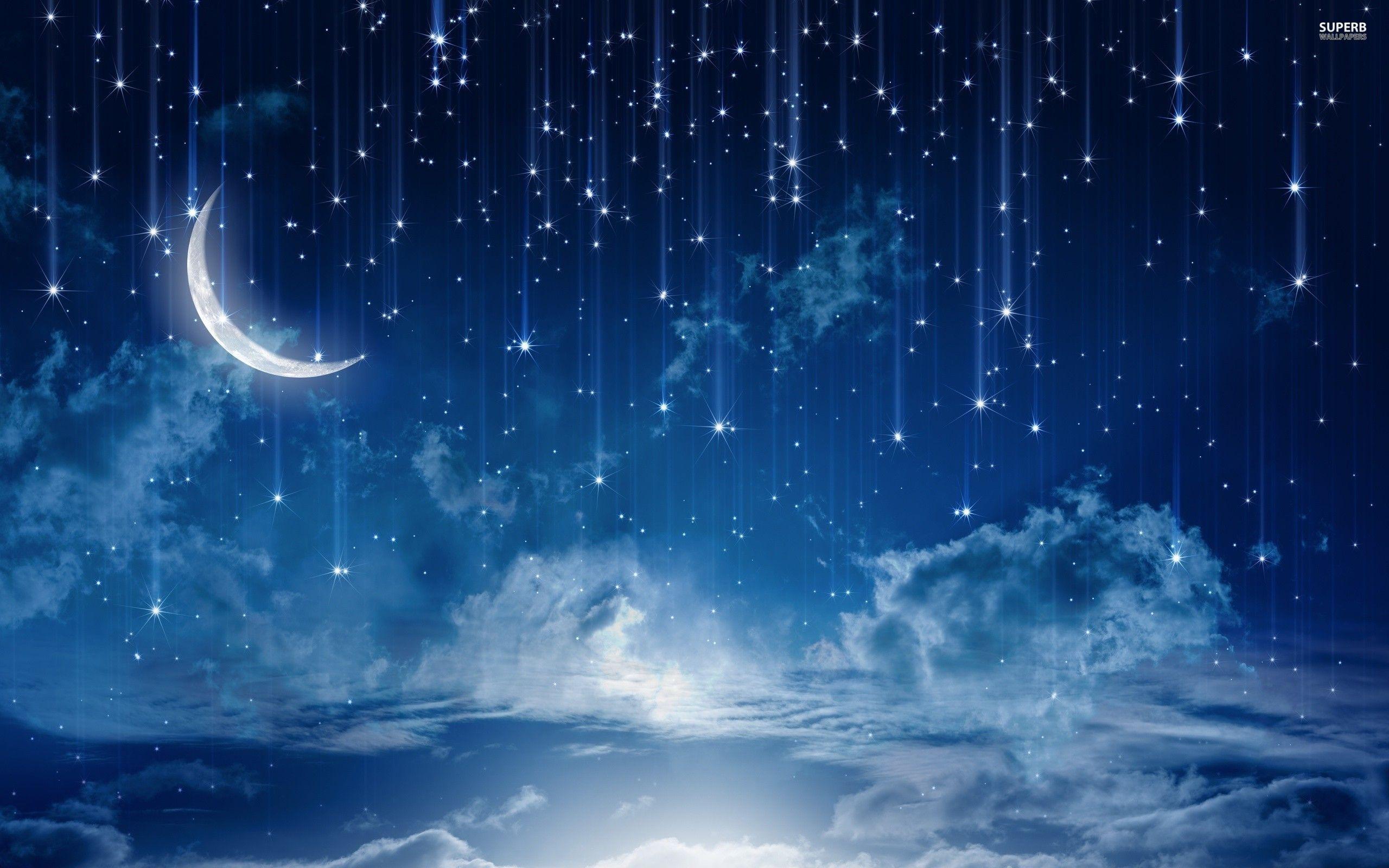 night-sky-wide-wallpaper 2,560×1,600 pixels | luz de la luna