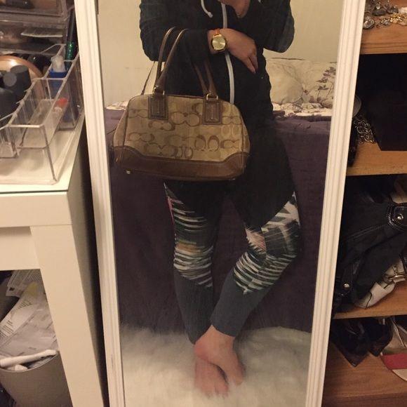 Coach signature handbags!! Authentic Brown coach signature handbags. Coach Bags