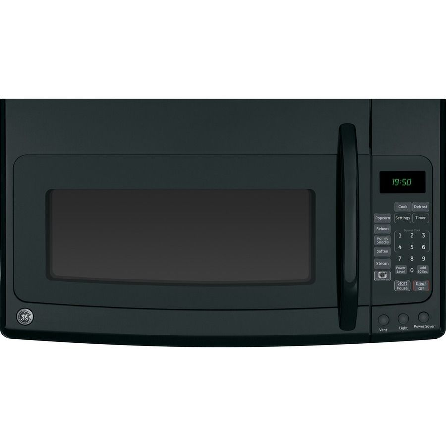 Lowes microwaves over the range with vent - Shop Ge 1 9 Cu Ft Over The Range Microwave Black At Lowes