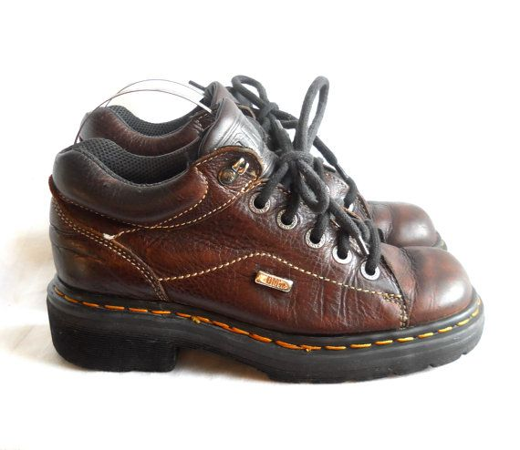 Doc Marten Brown Dr Marten Oxford Creeper Shoe Doc Marten Shoe Doc Marten  Women 7 Women Creeper Dr Martin 90s Creeper Shoe Platform Oxford