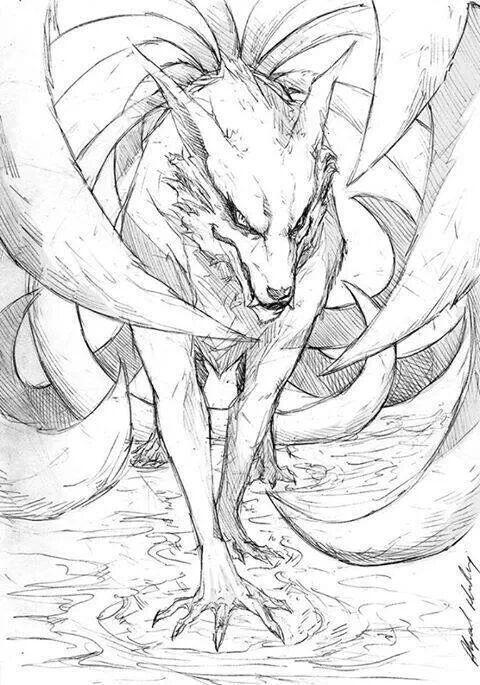 Kurama The 9 Tail Fox Naruto Drawings Naruto Uzumaki Naruto