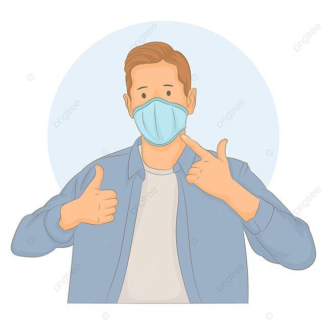 Pakai Masker Png Vector / Police Black Male Coronavirus ...