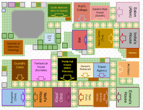 Map of how to get all the buildings on 1 map in Harvest Moon