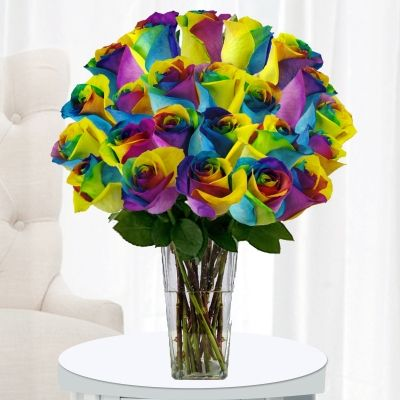 Win Smiles With Vivid Tiedye Roses When The Question Is Where Can