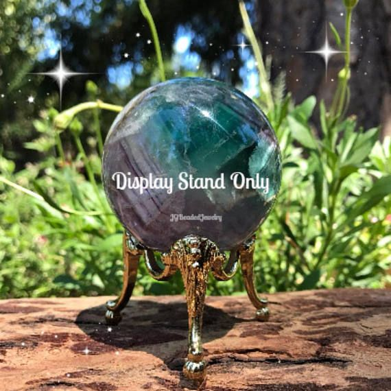 Crystal Ball Display Stand, Sphere Holder, Golden Decorative Egg - ba stands for