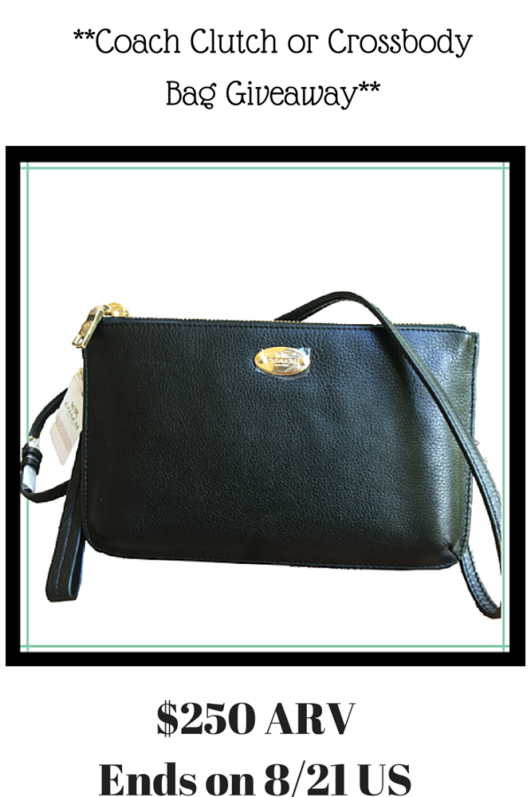 Coach Clutch or Crossbody Bag Giveaway!  Coach Ends 8 21 15 - This N That  with Olivia 737adc0ef6