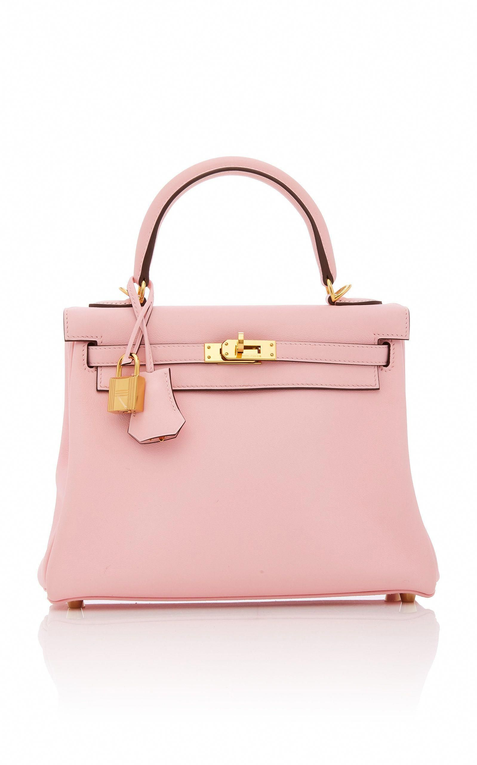 ac26963b49 HERITAGE AUCTIONS SPECIAL COLLECTIONS Hermès 25Cm Rose Sakura Swift Kelly  in Pink  Pradahandbags