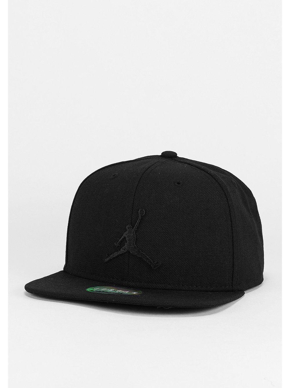 2dcee419ddf JORDAN Snapback-Cap Jumpman black black