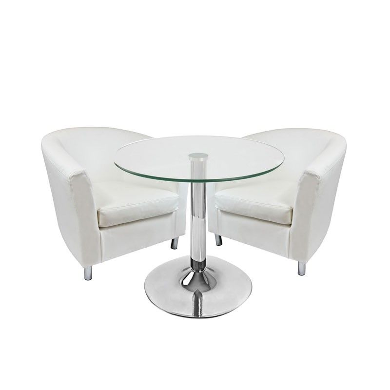 Lounge Package white  Compact, stylish and modern. This package is perfect for informal meeting setting, exhibition stands and excellent for bar areas and drinking receptions, creating a relaxed scene that is warm and welcoming to all.