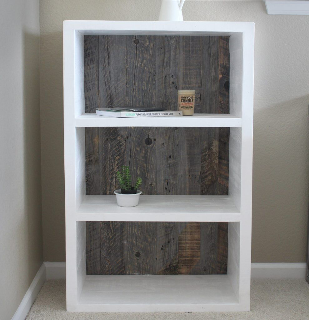Farmhouse Grey And White Bookshelf Bookcase Ideas Style Decor Reclaimed Wood Painted