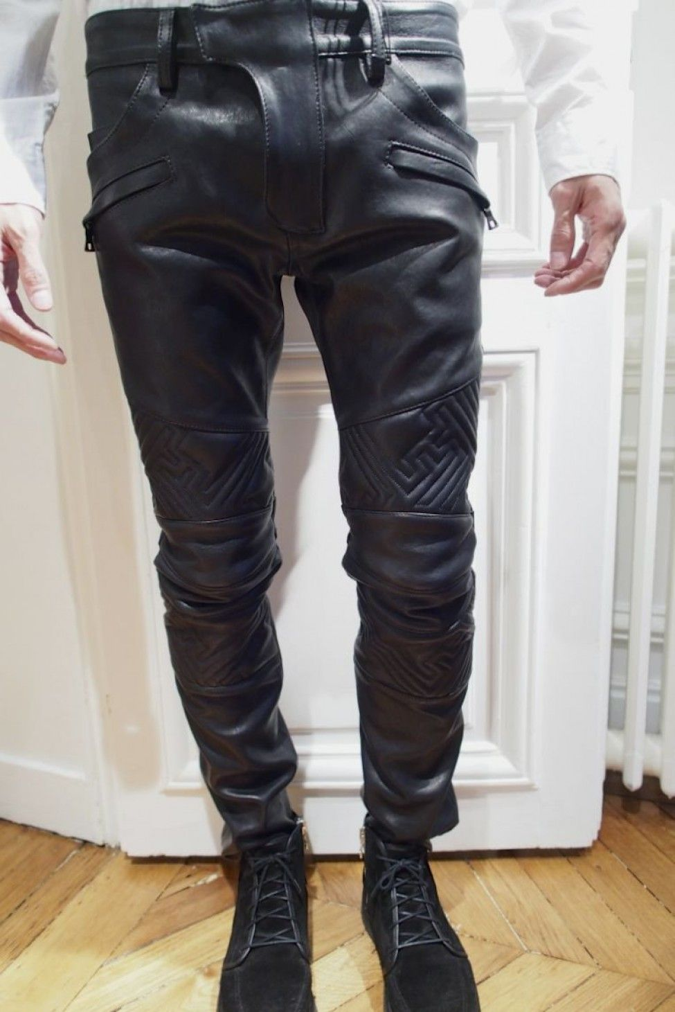 finest selection 93b29 f4671 Leather all black everything.