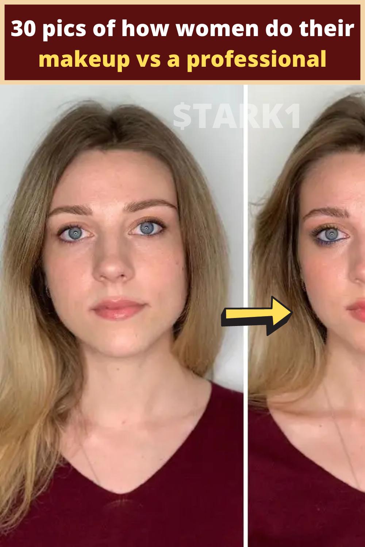 30 Pics Of How Women Do Their Makeup Vs A Professional In 2020 Putting On Makeup Makeup Womens Makeup
