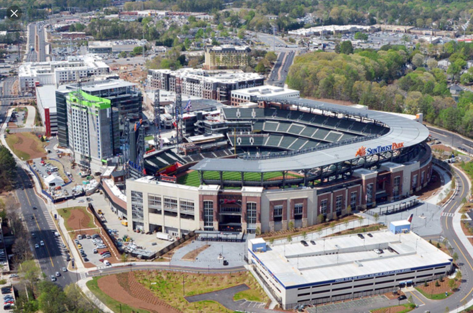 Suntrust Park Home F The Atlanta Braves Suntrust Park Atlanta Braves Stadium Baseball Park