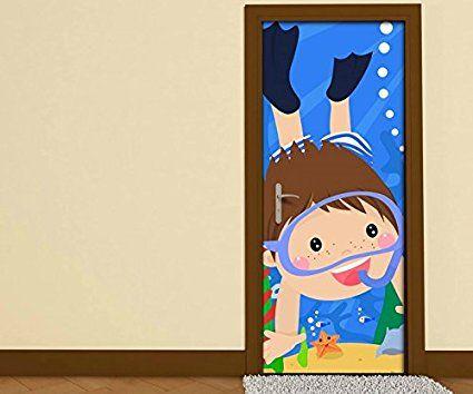 Schöne Deko für das Kinderzimmer kleiner Taucher