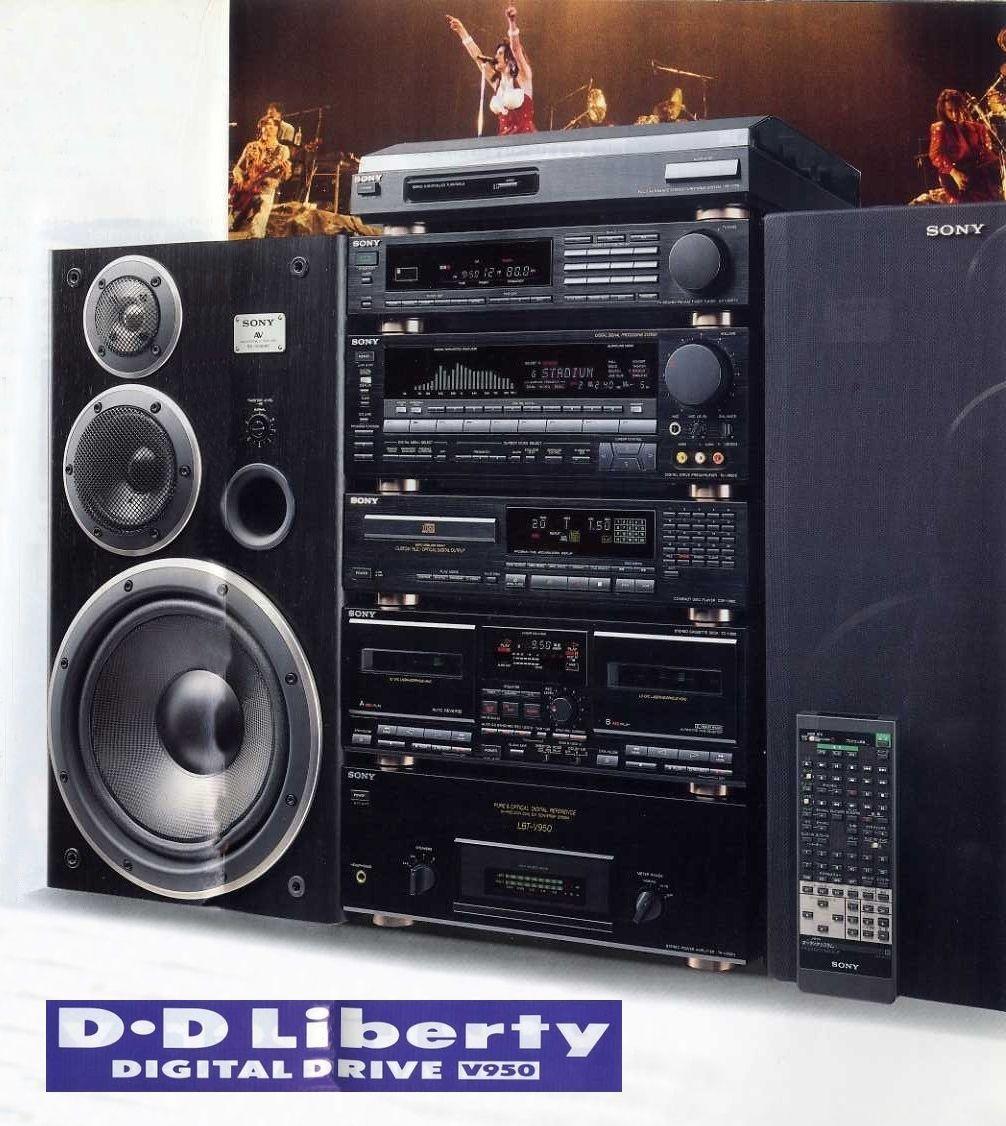 Sony D D Liberty V950 1988 Hoparlorler Teyp Radyo