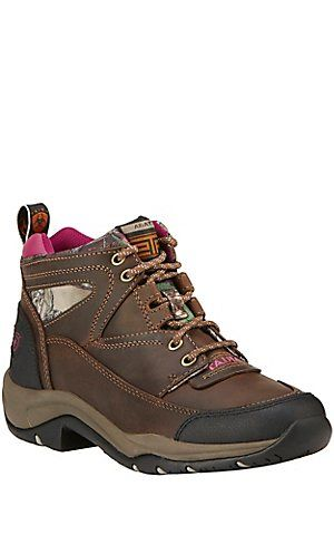 57b752ab94f Ariat Terrain Endurance Women's Distressed Brown with Pink Camo ...