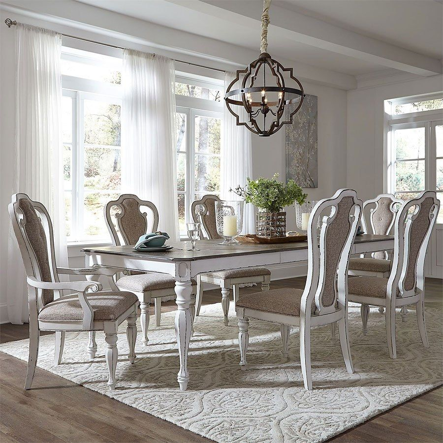 Best Magnolia Manor Dining Room Set W 108 Inch Table In 2019 400 x 300