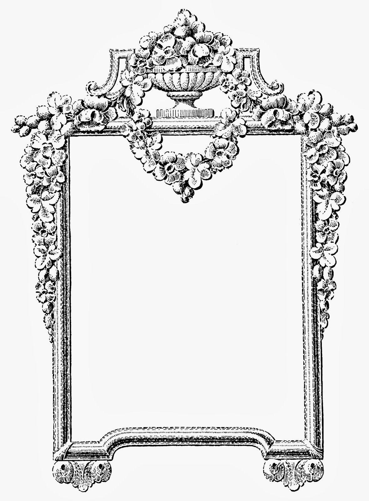 Ornamental Victorian mirror VintageFeedsacks | Free ...