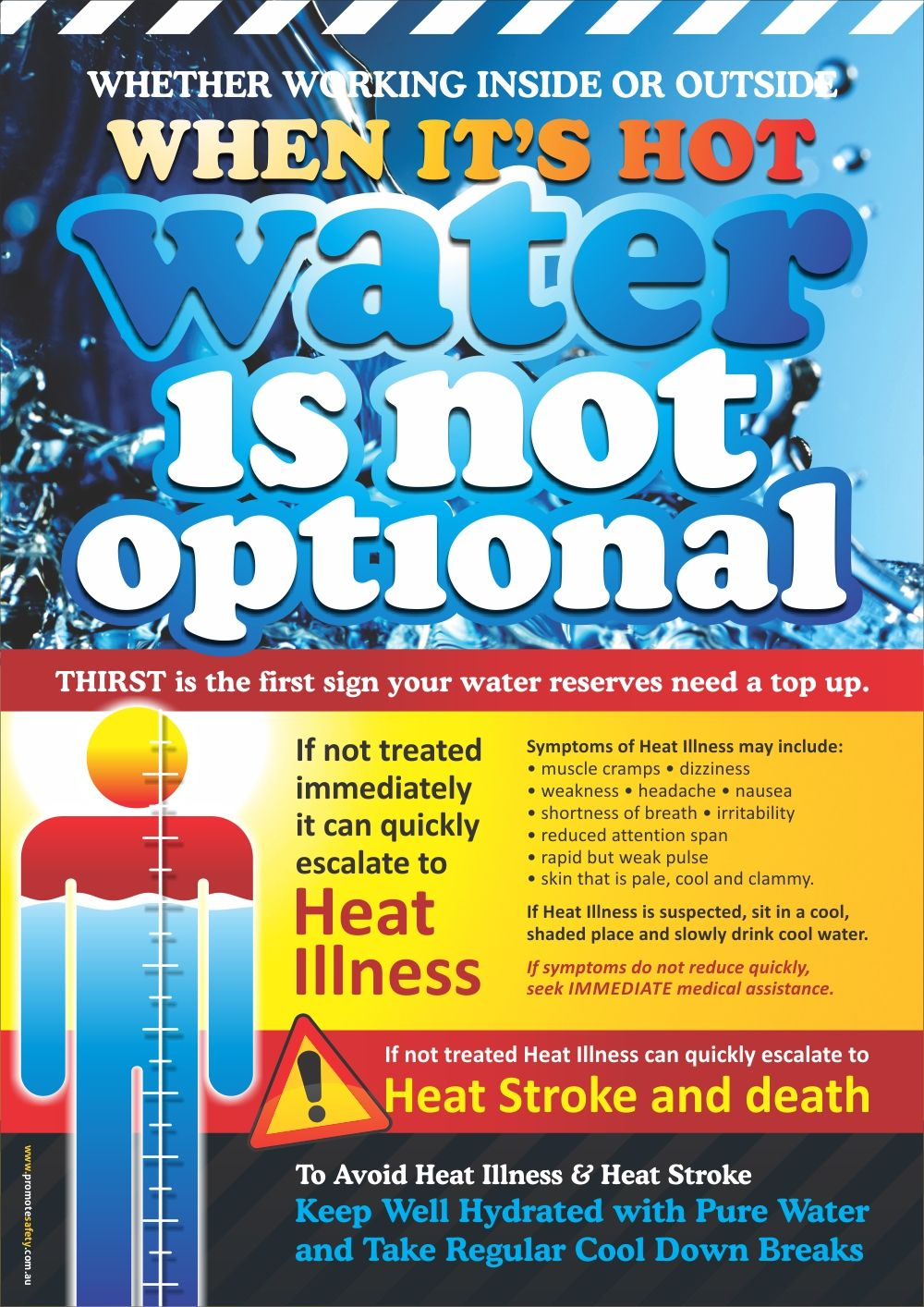 Extreme Heat Infographic with tips to prevent heat