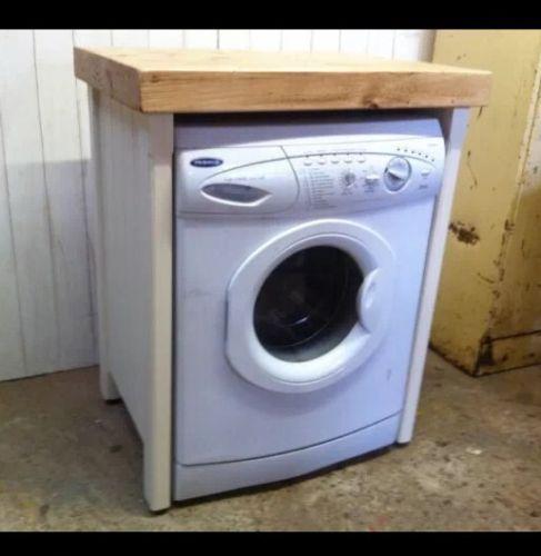 Pine Freestanding Handmade Appliance Gap Unit Dishwasher Washing Machine Housing Washing Machine Cover Washing Machine In Kitchen Dishwasher Cabinet