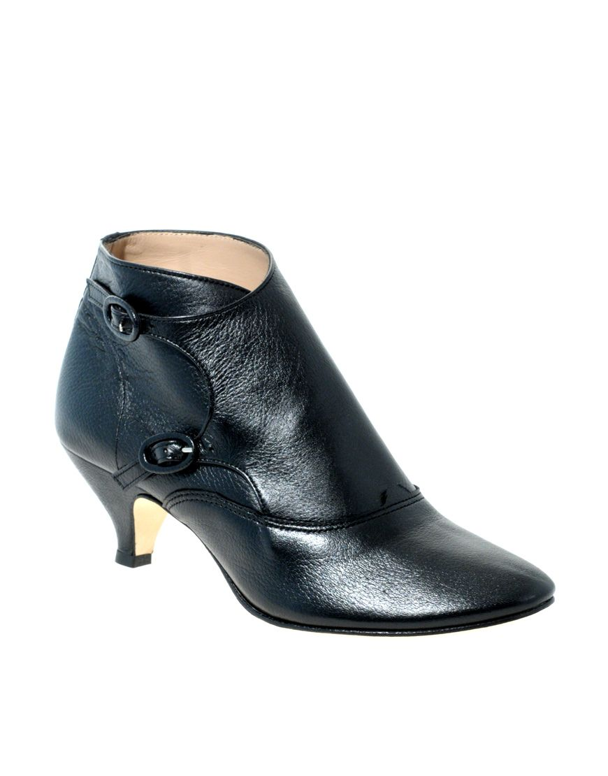 Pin By E G On Happy Feet Kitten Heel Ankle Boots Heeled Ankle Boots Boots