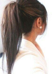 Straight Ponytail Gorgeoushair Straight Ponytail Hairstyles Straight Ponytail Hair Styles